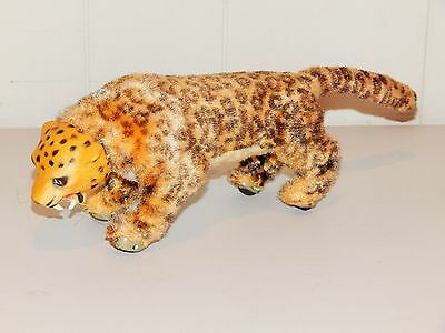 Great Vintage Marx Windup Leopard Toy, Walks, Bobs Head And Growls, Working