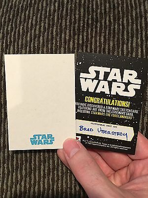 Topps Star Wars The Force Awakens Custom sketch card by Brad Utterstrom 1/1