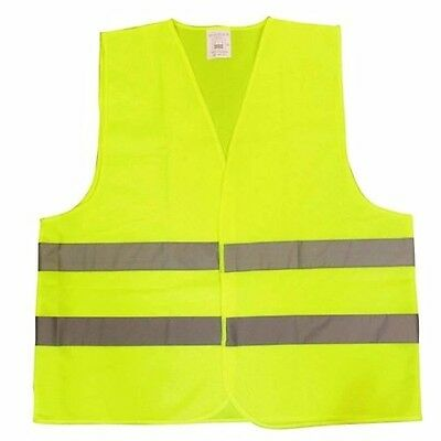 Hi Vis Visibility Waistcoat Safety Vest Jacket Cycling Building