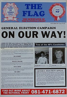 National Front Newspaper - The Flag - No 62 - (undated but 1992)
