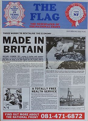 National Front Newspaper - The Flag - No 63 - (undated but 1992)