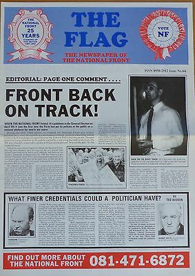 National Front Newspaper - The Flag - No 64 - (undated but 1992)