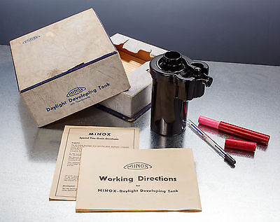 MINOX Film Developing Tank w/ box and Thermometer.