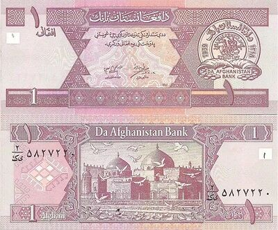 AFGHANISTAN 1 Afghan Banknote, 2002, P-64, NEW UNC World Currency
