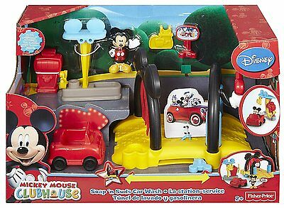 Mickey Mouse Car Wash Clubhouse Soap & Suds by Fisher-Price Disney Cartoon NEW