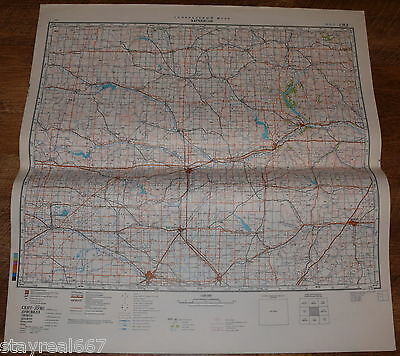 Authentic Soviet Russian Military Topographic Map Hutchinson, Kansas, USA #128