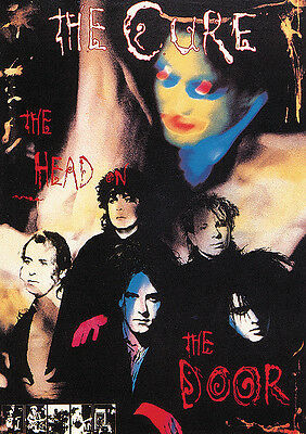 """THE CURE Head On the Door 23.5"""" x 33"""" LARGE Robert Smith POST-PUNK Music Poster"""