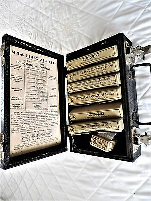 Vintage M.S.A. First Aid Kit Mine Safety Appliances Co.