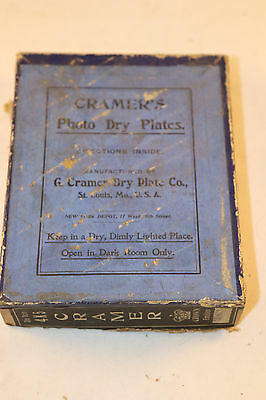 "G. Cramer's Dry Plate Co. Photo Dry Plates  4x5"" Full Box"