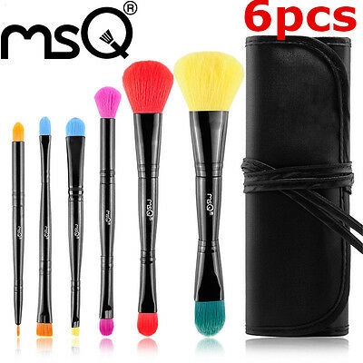 MSQ 6Pcs Professional Makeup Brush Set Top Quality Cosmetic Tool With Black Bag