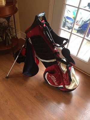 Titleist Stand Golf Bag. Blue Red And White.
