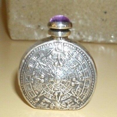 Vintage Sterling Silver Small Purse Size Perfume Bottle