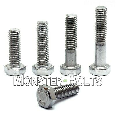 M4 Hex Cap Bolts / Screws, A2 Stainless Steel, 0.70 Coarse DIN 933 Tap 18-8