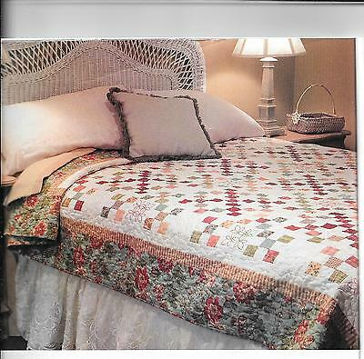 """Hidden Treasures quilt kit 10 2/3 yards fabric  finishes 78"""" x 97"""" optional embr"""