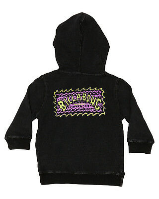 New Billabong Boys Tots Boys Billboard Pop Hoodie Cotton Black