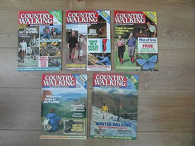 First Edition COUNTRY WALKING Magazine Issue 2-5 1987 April May June July etc