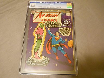 ACTION COMICS #242 CGC 1.8 1st APPEARANCE OF BRAINIAC KANDOR D.C. COMICS 7/58