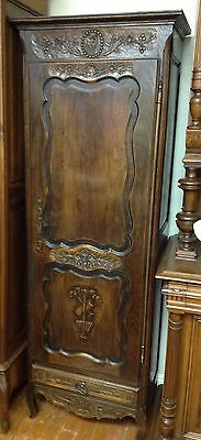 Antique French Bonnetiere armoire linen cabinet