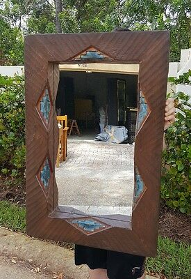 Stunning Hand Carved Wooden Southwest Style Mirror