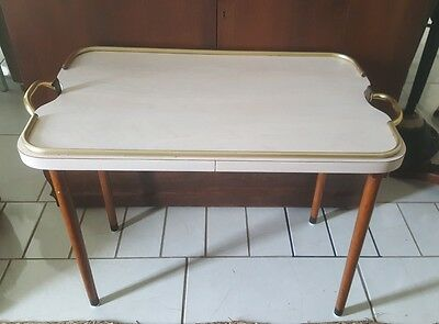 """Mid Century Modern Folding Tray Table ~ Scheibe Products ~ 28"""" L x 16"""" W x 20""""T"""