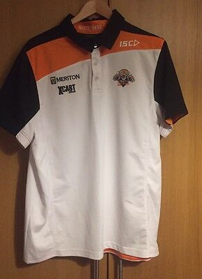 NRL Wests Tigers Players Polo Shirt, XL By ISC