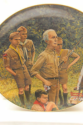 Norman Rockwell Boy Scouts of America Beyond the Easel Gorham Plate 1969