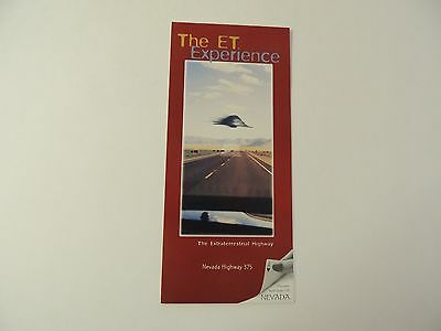 The ET Experience Nevada Highway 375 Area 51 vintage brochure**