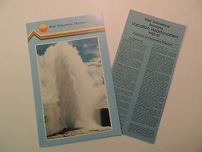 West Yellowstone Montana vintage tourist brochure vacation headquarters guide**