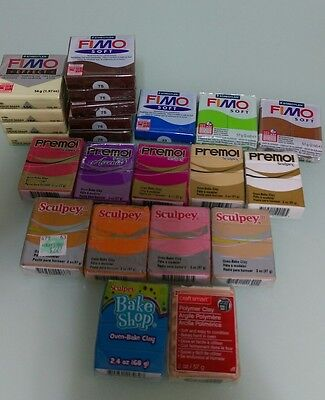 polymer clay misc brand lot 23 bars