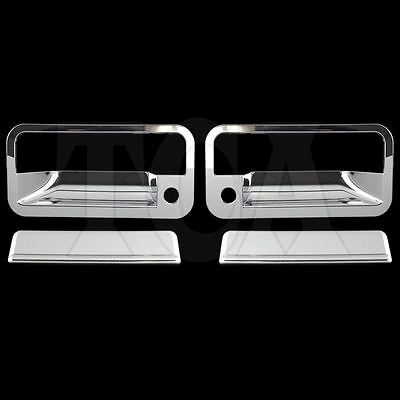 FOR CHEVY CHEVROLET SUBURBAN 1992-1999 CHROME 2 DOOR HANDLE COVERS W/PS Key 1998