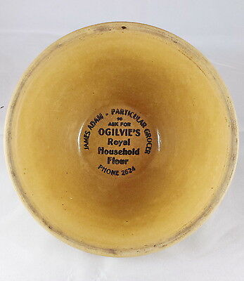 Medalta Advertising Yellowware Mixing Bowl Ogilvie's Royal Household Flour