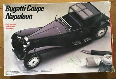 Vintage Testors/Italeri Model Kit Of Bugatti Coupe Napoleon, 1/24; 1984