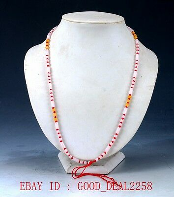 Chinese Beautiful Natural Jade Handwork Beads Necklace XL040