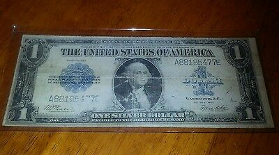 1923 Blue Seal Large 1$ G/note !! Woods & White ! Fr238