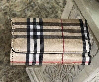 New Designer Inspired Small  Faux Leather /fabric Credit Card Tri-Fold Wallet