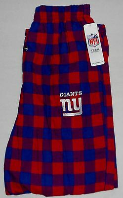 New York Giants Sleep Lounge Pajamas Pants Flannel Men's S M L Xl 2X Red Plaid