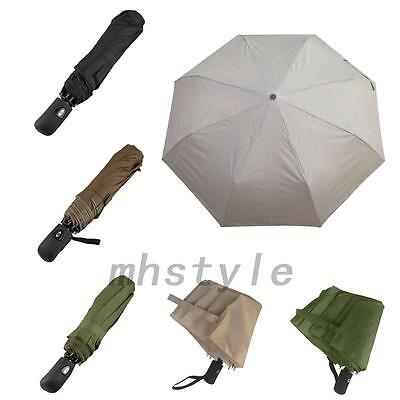 Fashion 3-Fold Compact Rain Umbrella Windproof Waterproof Automatic Accessories