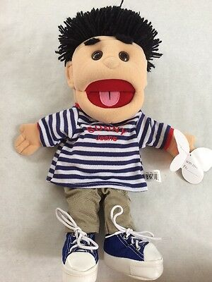 Sunny Puppets Male Puppet Sunny Jeans T Shirt Black Hair Ministry Pretend Play