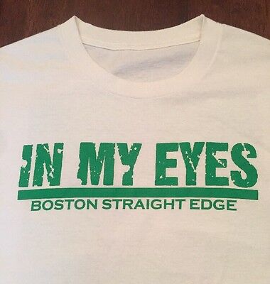 VTG In My Eyes T Shirt Boston Straight Edge Revelation Records Logo SXE Hardcore