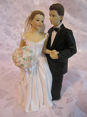 "Wedding Bridal couple heavy resin figurine from Hallmark Store 5"" tall"