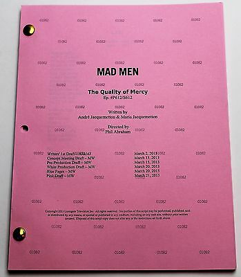 Mad Men * 2013 Original TV Show Script * Elisabeth Moss * Season 6, Episode 12