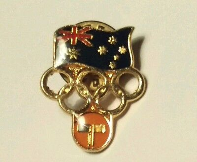 Rare Collectable Telecom Australia Olympic  Badge /  Pin