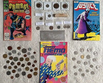 Estate Collection Lot - Old Coins Vintage Comics Rare Cents Silver Bill +++