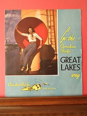 Great Lakes Steamship Service, summer 1948, Canadian Pacific brochure