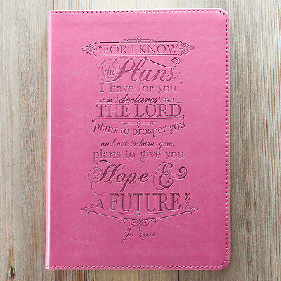 Jeremiah 29:11 I Know The Plans Pink LuxLeather Journal. FREE DELIVERY