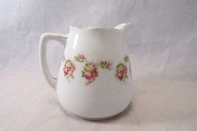 Silesia Alice Creamer Hand Painted Pink Flower Germany