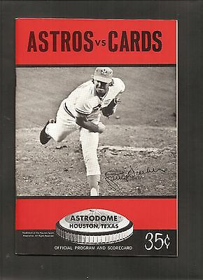 1972 Houston Astros Vs St Louis Cardinals Baseball Program Astrodome Gibson Nrmt