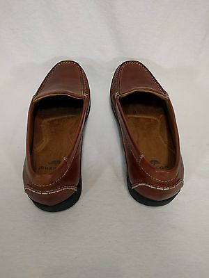Mens Dockers Driving Moccasins Size 12M Brown Leather Loafers Slip-Ons