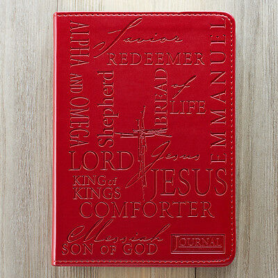 Name of Jesus Burgundy LuxLeather Journal. FREE DELIVERY