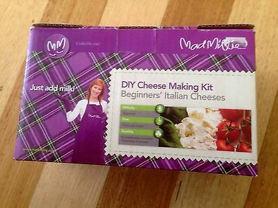 MAD MILLIE DIY CHEESE MAKING KIT BEGINNERS ITALIAN CHEESES  ****new and cheap***